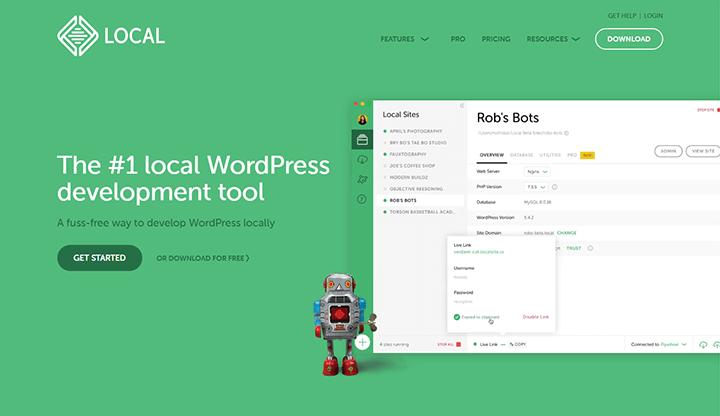 WordPress開発環境 Local